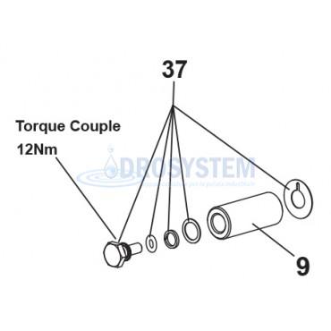 KIT Vite - O-ring e Rosette  Pistone LAVOR 6.605.0034